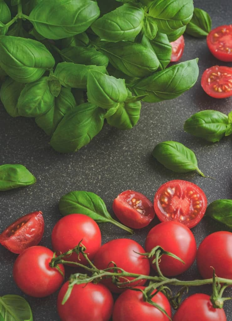 Ingredients For Tomato And Basil Sauce