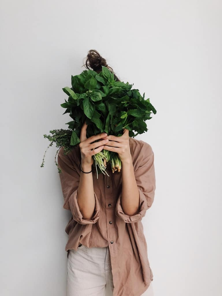 Women With Vegetable Leaves