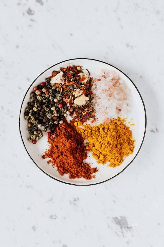Mixed Spices On A Plate