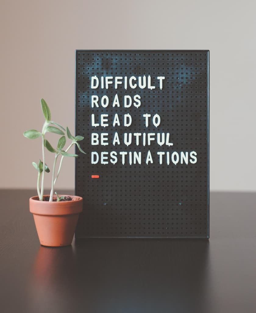 Motivation For Growth Sign