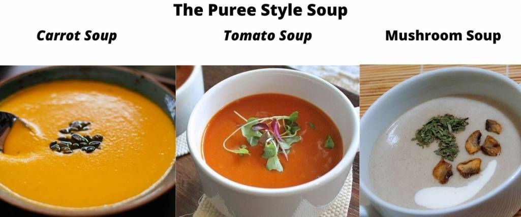 Selection Of Puree Style Soup