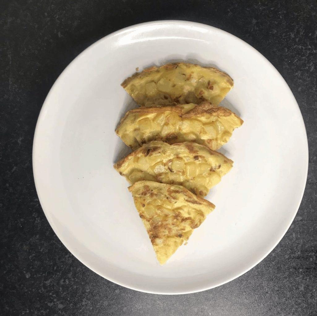 Open Potato Omelette