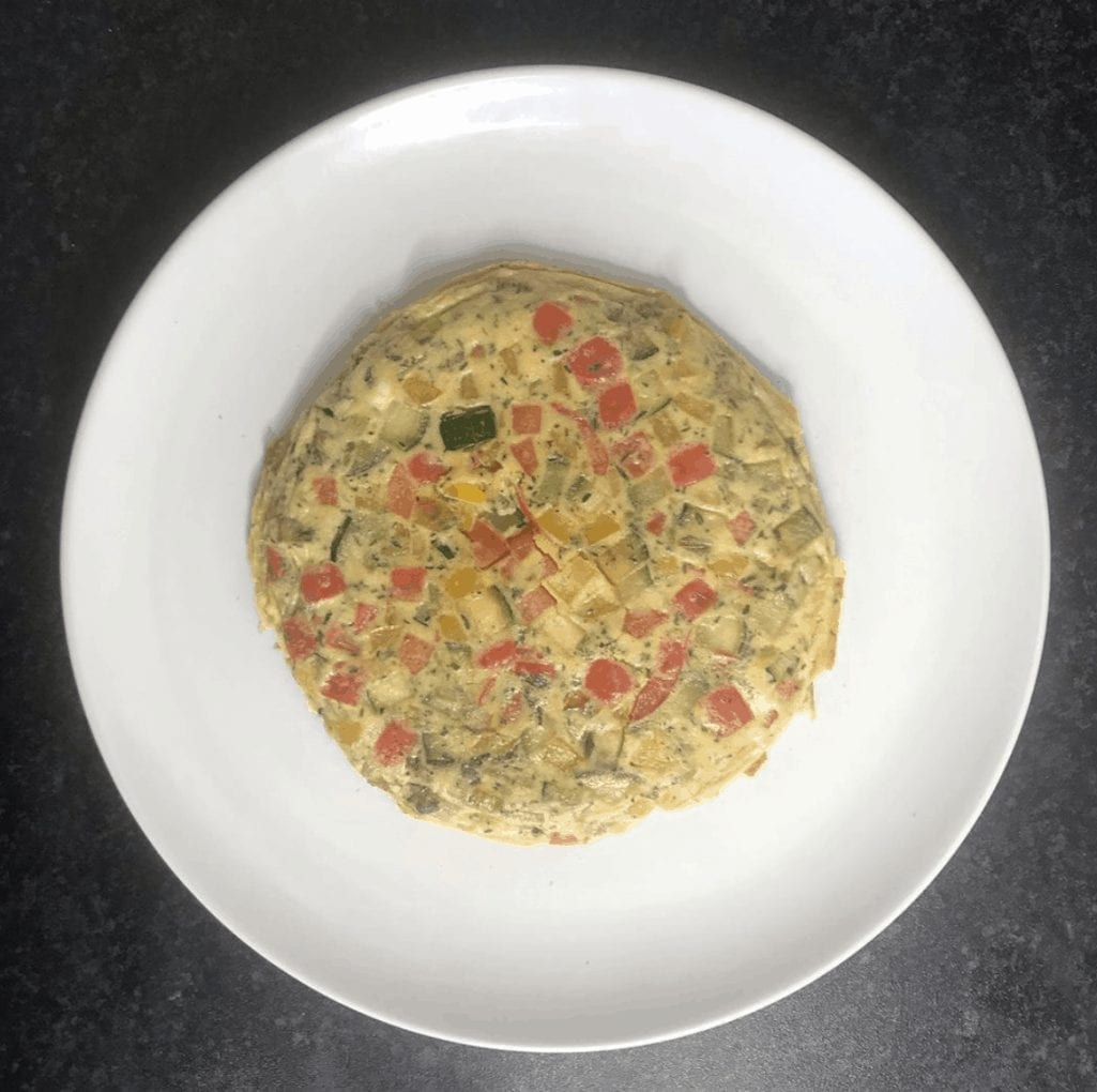 Pepper And Courgette Omelette