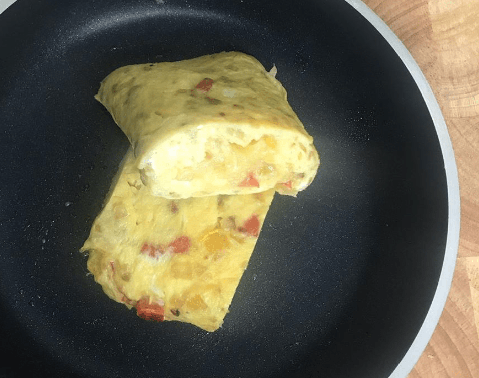 Three Egg Pepper Omelette