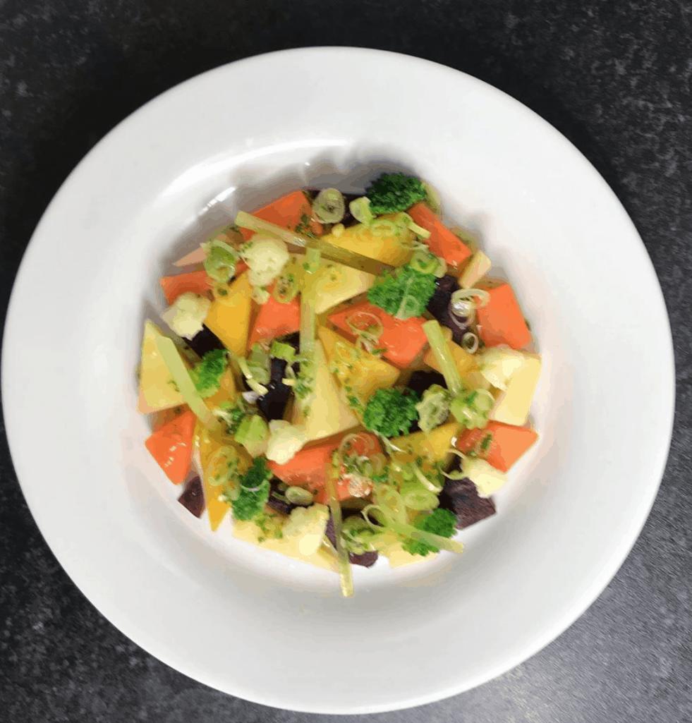 Plate A Vegetable Salad
