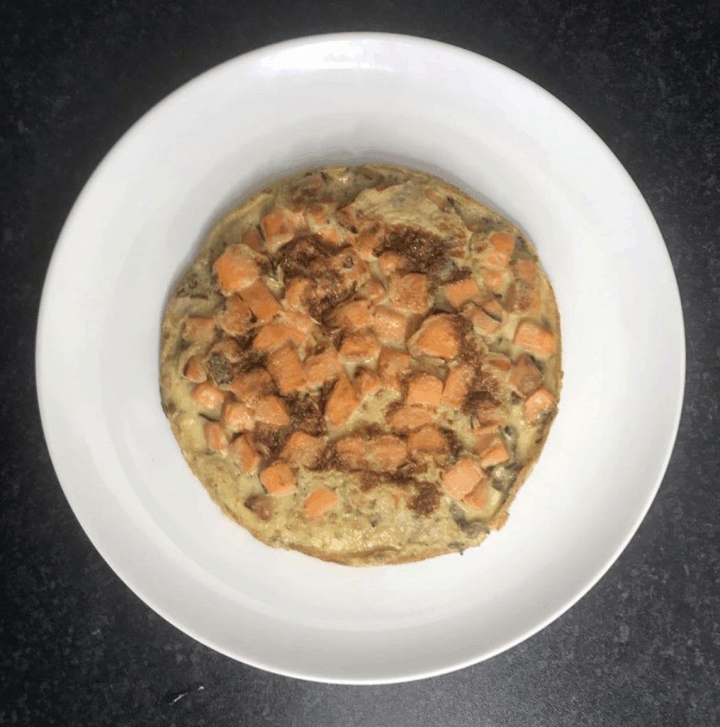 Sweet Potato Open Omelette
