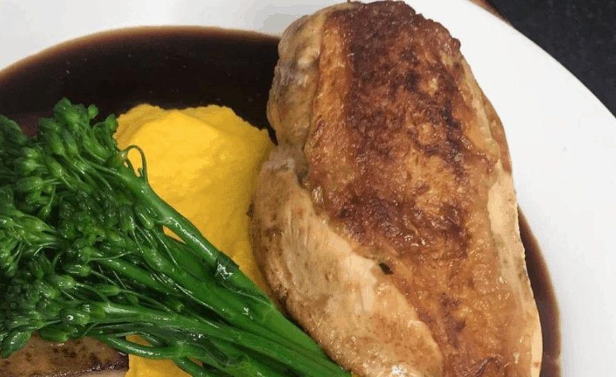 Chicken With A Fondant Potato