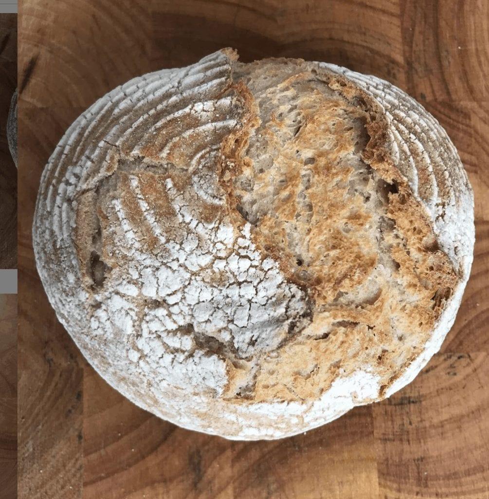 Baked Sourdough Bread For Avocado Poached Egg Snack
