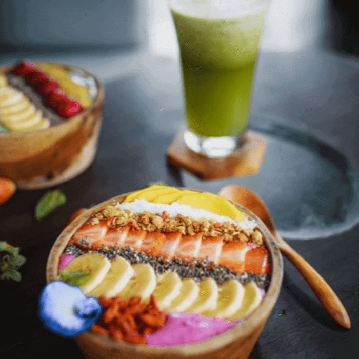 Vegetarian Vegan Fruit And Yoghurt Bowl